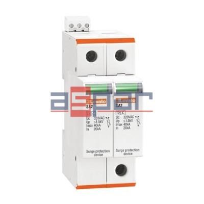 SA2DG600M2 - Ogranicznik przepięć do 600VDC (+, -, PE), Iscpv-100A, typ 2