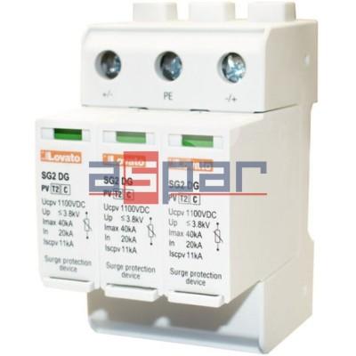 SG2DGK10M3R - Ogranicznik przepięć do 1100VDC, typ 2, wyjście przekaźnikowe
