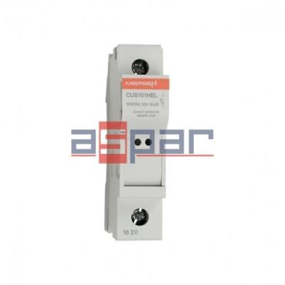CUS101HEL - Podstawa bezpiecznika 10x38, 1000VDC, 32A