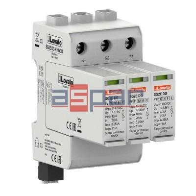 SG2EDGK10M3R - Ogranicznik przepięć DC, typ 1 i 2, wyjście przekaźnikowe