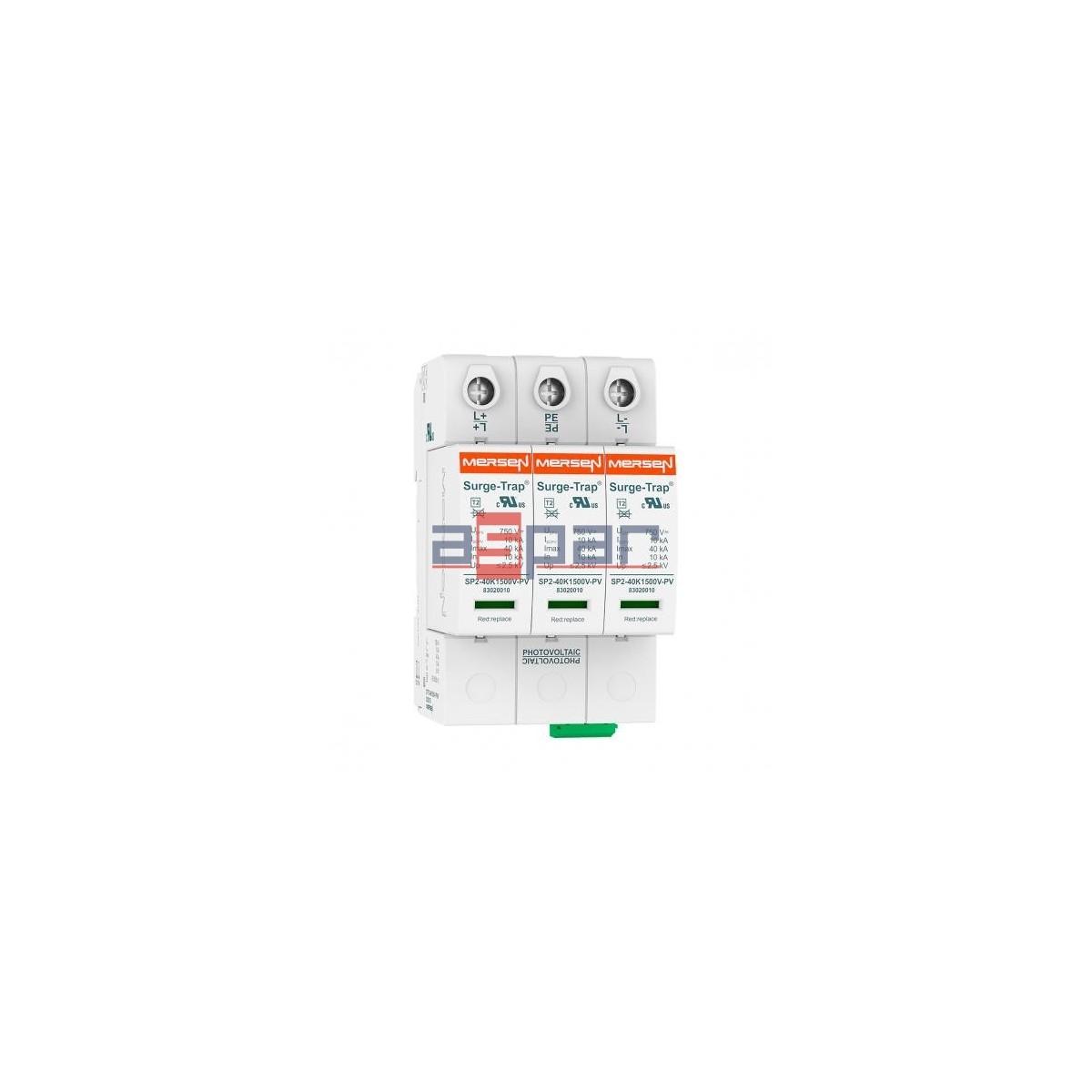 STPT2-40K1000V-YPV - Ogranicznik przepięć PV C typ 2 3P 10kA 1,06kV DC