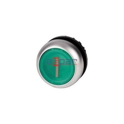 Przycisk z samopowrotem, podświetlany, zielony, M22-DL-G-X1, 216938