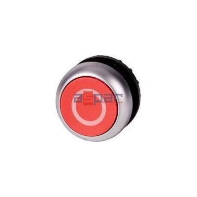 Przycisk z samopowrotem, płaski, czerwony, M22-D-R-X0, 216605