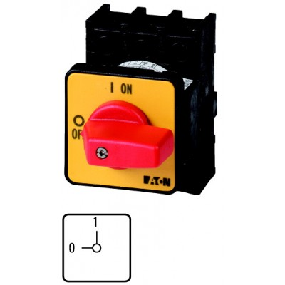 P1-32/E-RT - rozłącznik do wzbudzania 3-fazowy, 0-1, 32A, 003197
