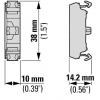 Element stykowy 1Z płaski montowany do płyty czołowej, M22-FK10, 180792