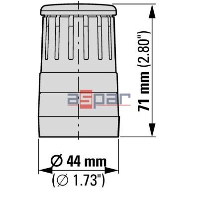 Moduł akustyczny do kolumn serii SL4, 24V AC/DC, sygnał ciągły/przerywany, SL4-AP24, 171379