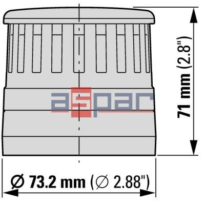 copy of Moduł akustyczny do kolumn serii SL7, 24V AC/DC, sygnał ciągły/przerywany, SL7-AP24, 171281