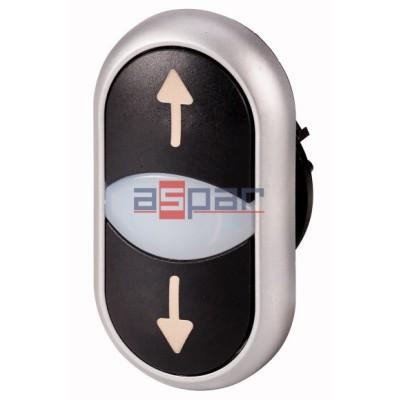 Napęd przycisków podwójnych z samopowrotem podświetlany, M22-DDL-S-X7/X7, 216710