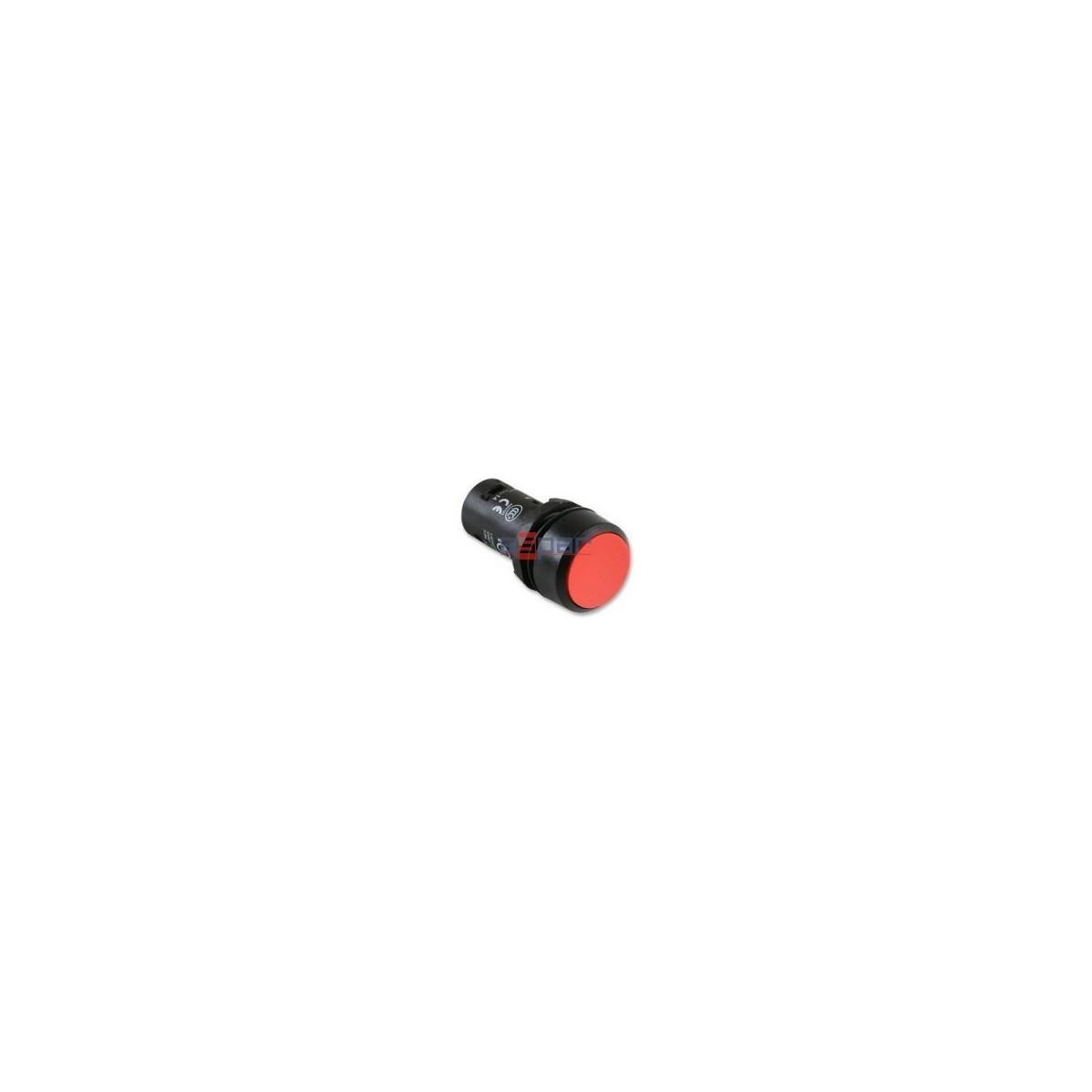 CP1-10R-02, przycisk wklęsły czerwony, 2 x NC