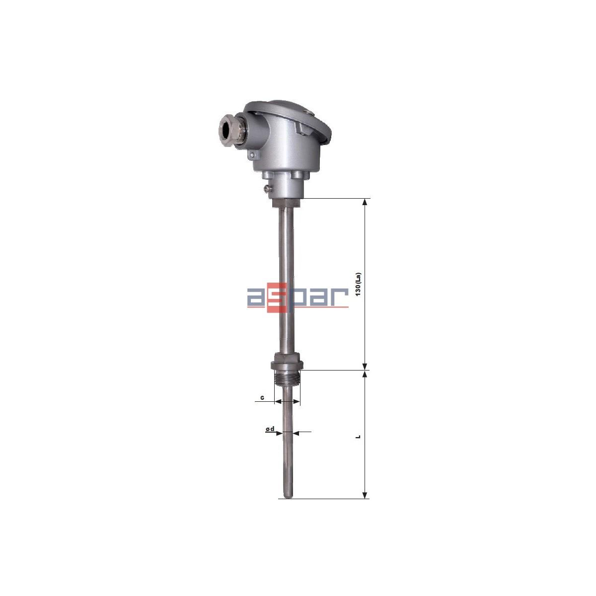 CTP551S - rezystancyjny czujnik głowicowy