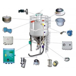 wyposażenie silosu, czujnik poziomu, zawór bezpieczeństwa, ILT, VCP