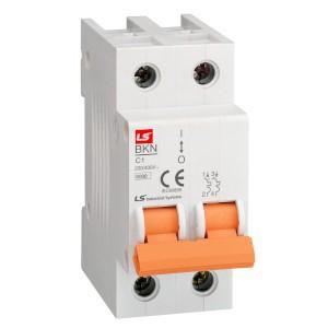Wyłączniki nadmiarowo-prądowe, 2-polowe, charakterystyka B i C